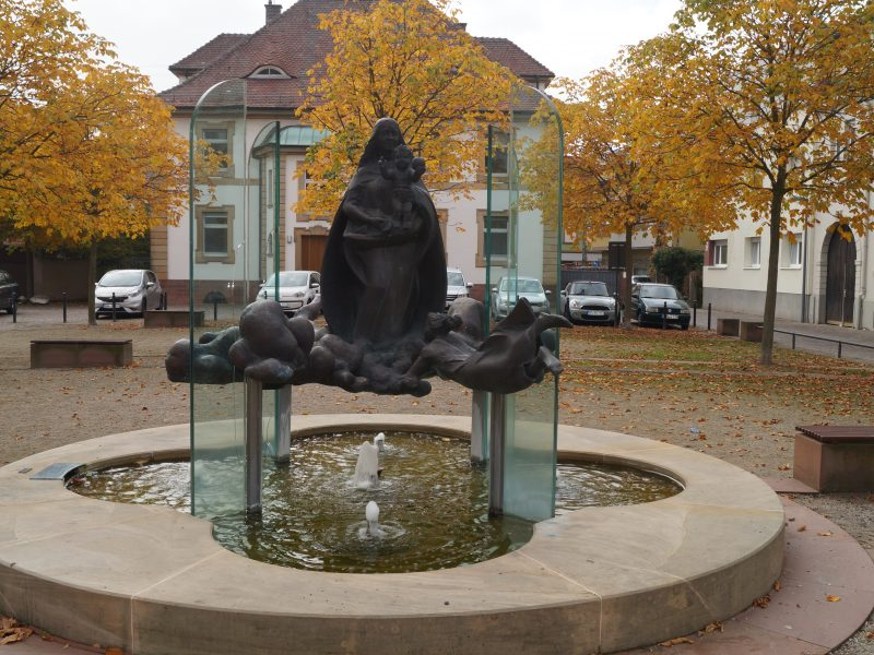 Der Marienbrunnen in Oggersheim
